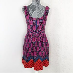 Anthropologie Maeve Multi Color Zip Tank Dress